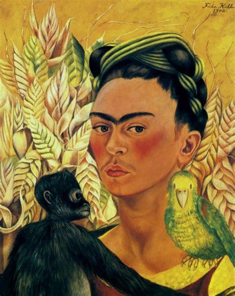 frida kahlo self portrait biography quot autorretrato con mono y perico quot 1942 frida kahlo