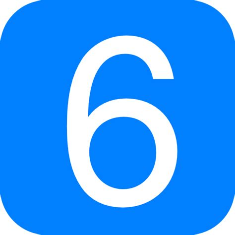 Rectangle by Blue Rounded Square With Number 6 Clip Art At Clker Com