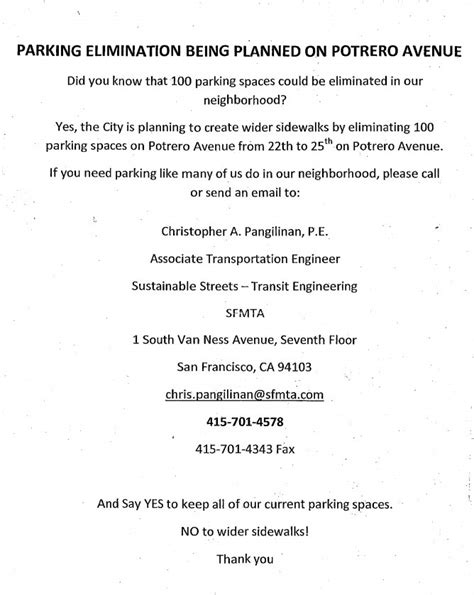 Sle Letter Rent Parking Space Parking Obsessed Extremists Threaten Plan For Safer