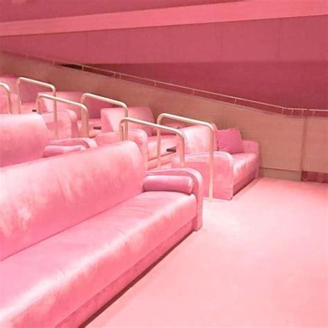 baby pink velvet sofa velvet aesthetic