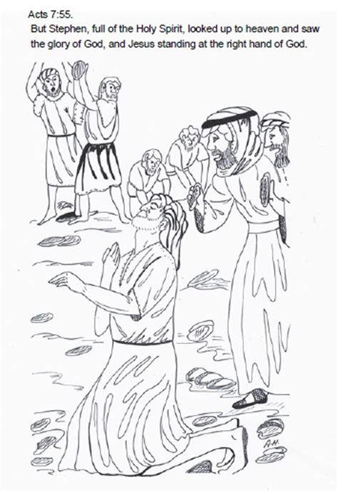coloring pages bible stephen stephen is stoned coloring pages