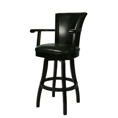 leather bar stools with backs and arms glenwood 30 quot swivel arm bar stool in black qlgl217227865