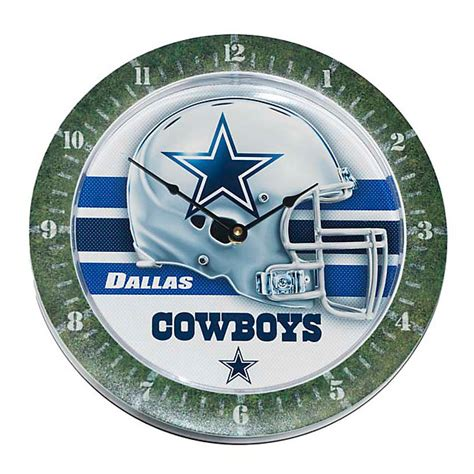 dallas cowboys clock home decor home office