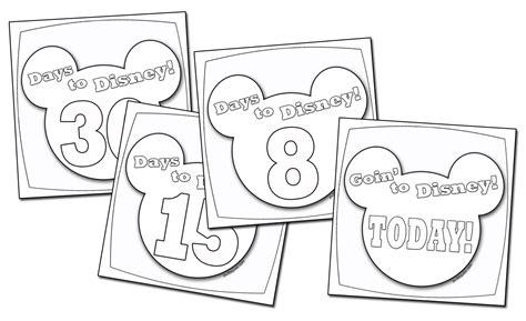 disney coloring pages calendar a disney countdown calendar you can color
