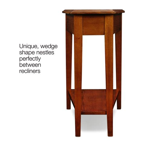 wedge accent table amazon com leick recliner wedge end table medium oak
