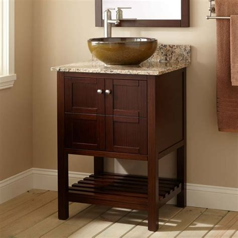 24 quot everett vanity for 1000 ideas about vessel sink vanity on brushed nickel teak and wall mount