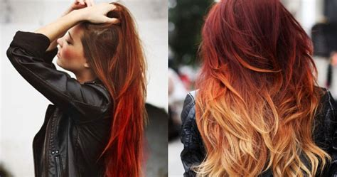 dark blonde on faded red hair sunset hairis the best ombre hair trend renew hair colour