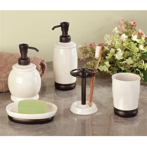 interdesign bathroom accessories interdesign york ceramic toothbrush holder stand for