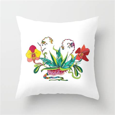 Orchid Pillow by Quot Orchid Galactica Quot Throw Pillow