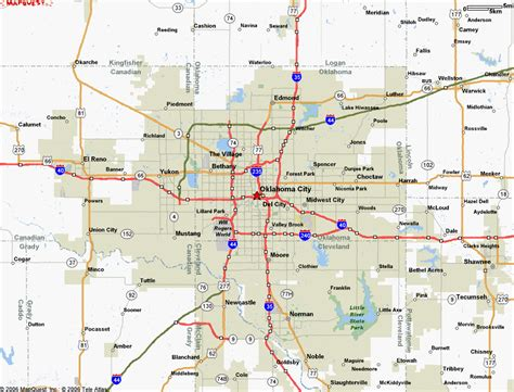 oklahoma city map january 2012 free printable maps