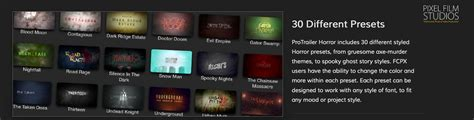 fcp templates free cut pro x effect protrailer horror is released by