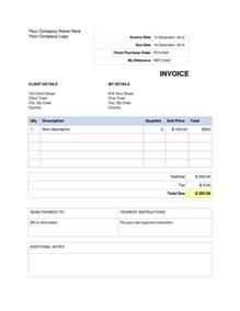 templates in microsoft word invoice template word doc invoice exle