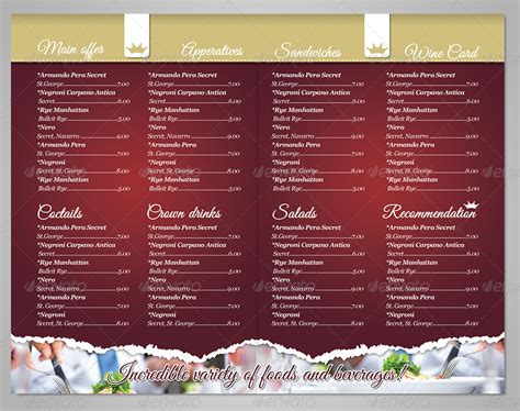 photoshop restaurant menu template delicious restaurant menu template by punedesign