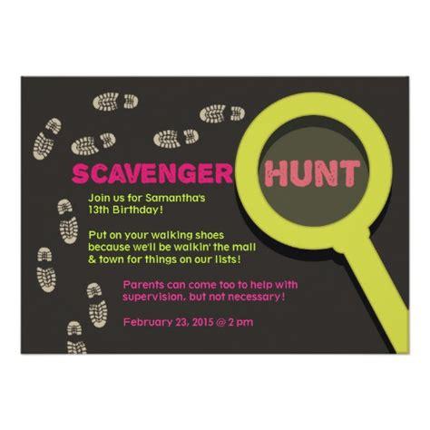cool scavenger hunt invitation 5 quot x 7 quot invitation card