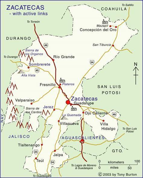 map of mexico zacatecas clickable interactive map of zacatecas and aguascalientes