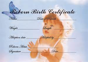 Baby Doll Birth Certificate Template