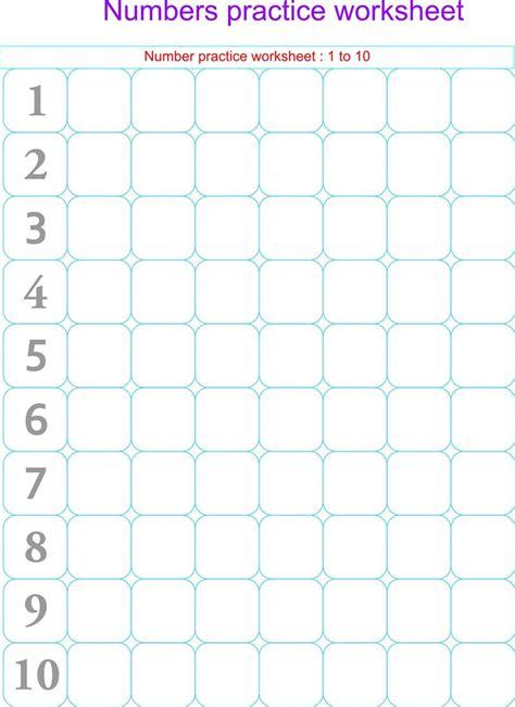 Writing Numbers Worksheets by Worksheets Numbers 1 10 Kindergarten Deployday