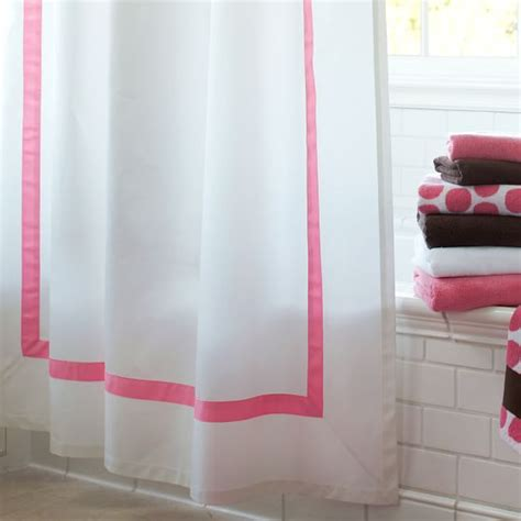 ribbon shower curtain suite ribbon shower curtain pbteen