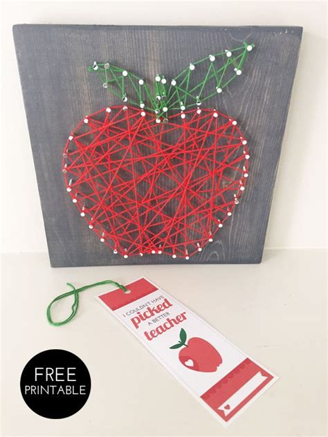 printable gift tags with string diy gifts for teachers to make with the kids string art