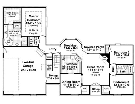 1600 sq ft floor plans european italian traditional house plan 59158