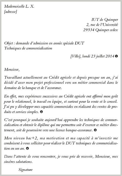 Lettre De Motivation De Dut Tc Rtf Exemple De Lettre De Motivation Pour Dut Technique De Commercialisation