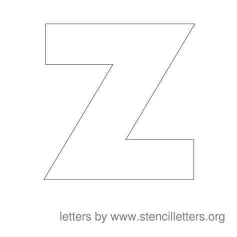 letter z template large stencil letters stencil letters org