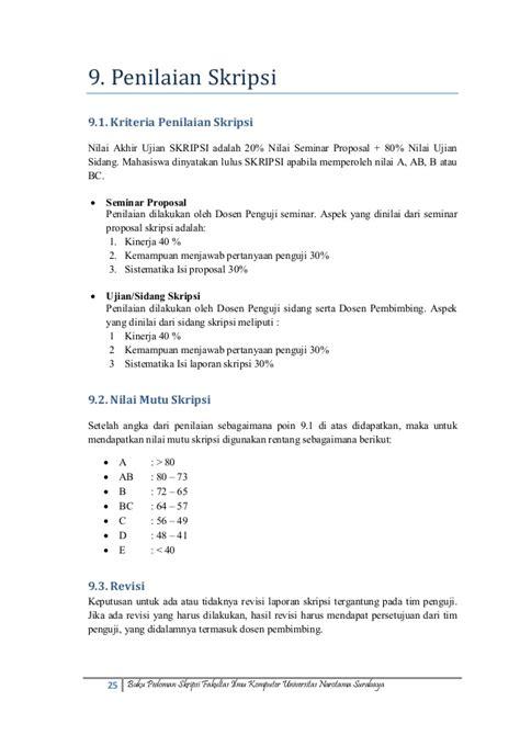 format ringkasan skripsi mk153027 pedoman skripsi fasilkom unnar okt2013