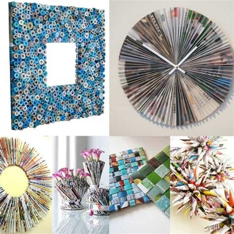 diy crafts recycled materials diy ideas best recycled magazines projects