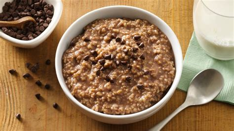 oatmeal before bed slow cooker hot chocolate oatmeal recipe pillsbury com