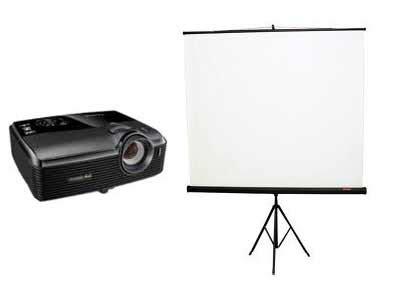 Proyektor Lengkap Dengan Layar sewa lcd projector bali rental lcd proyektor infocus screen di bali