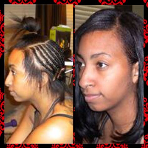 partial weave braid pattern partial sew in sew ins with braids pinterest sew