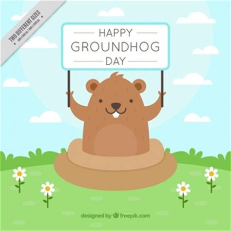 groundhog day how many days did it last groundhog day in a vintage style vector free