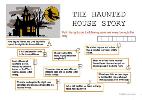 haunted house stories 22 free esl haunted worksheets
