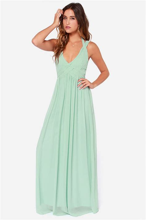 lulu s maxi dress backless dress mint green dress sage
