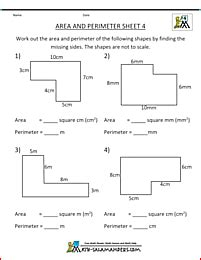 Area Worksheets 5th Grade by Area Worksheets
