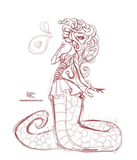 Doodle Medusa By Meomai On Deviantart