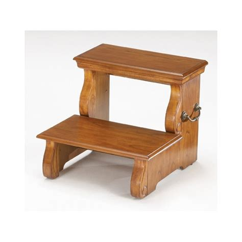 2 Step Wooden Step Stool by Bernards 2 Step Wood Step Stool Reviews Wayfair