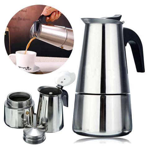 Sigmatic Coffee Maker 100 Ss stainless steel espresso coffee maker percolator stove top pot 100 300ml silver tosave