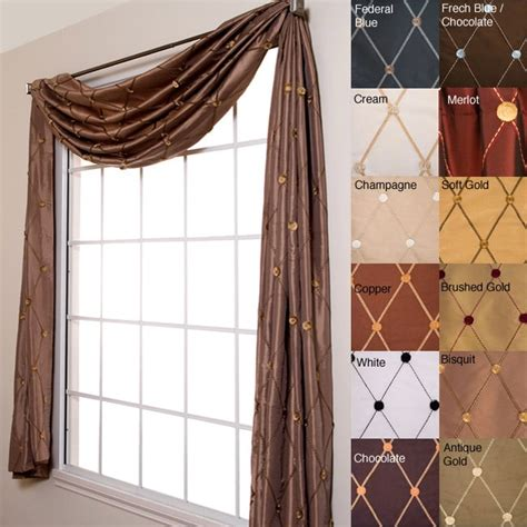 how to put a curtain scarf up helena 6 yard scarf valance 11415139 overstock com