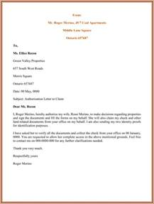Authorization Letter Court Format authorization letter sample for claiming