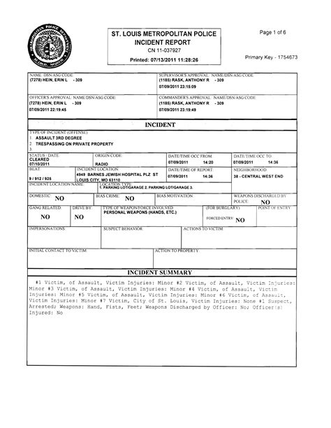 How To Get A Copy Of Arrest Record Best Photos Of Printable Blank Reports Blank