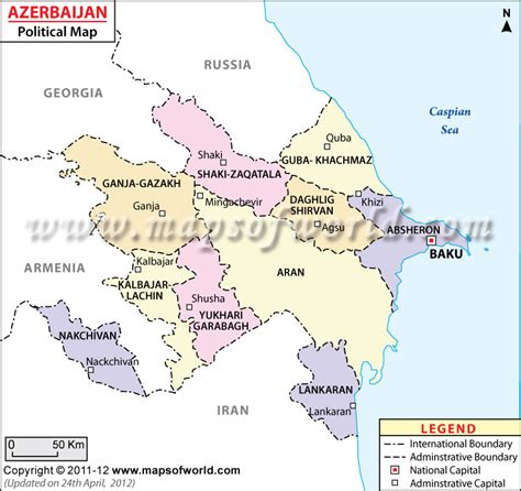 political map of azerbaijan nations online project political map of azerbaijan