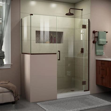 dreamline shower door installation shop dreamline unidoor x 48 in to 48 in frameless shower