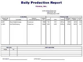 production book template daily production report template free layout format