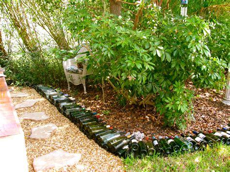 may days wine bottle garden border - Wine Bottle Garden