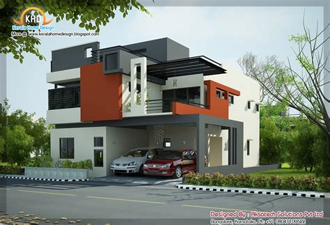 modern home design org 2 beautiful modern contemporary home elevations kerala