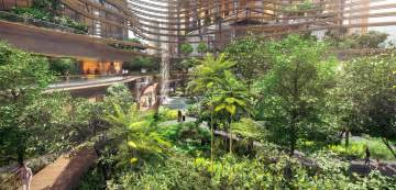 Residential Atrium Design by Singapore S Marina One Green Infused Residential Building