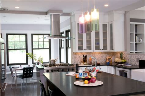 Loft Style Kitchen In The Suburbs Transitional Kitchen New York Loft Kitchen Design