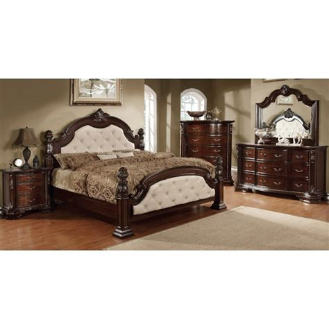 furniture of america cathey 4 piece california king canopy furniture of america cathey 4 piece california king bedroom set idf 7296la ck 4pc