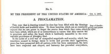 the first thanksgiving proclamation abraham lincoln s proclamation of thanksgiving day explore